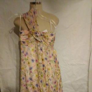 NWT Zara Woman Strapless Dress Size S Floral